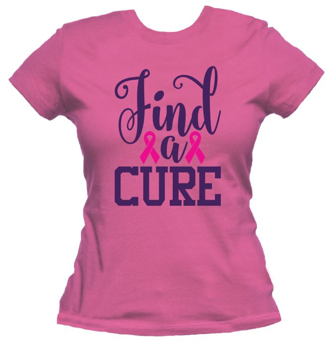 Find A Cure - Breast Cancer Awareness Tee