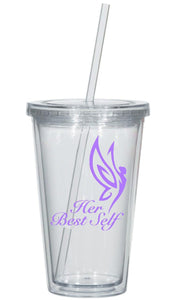 Custom - 8oz clear cup - Her Best Self