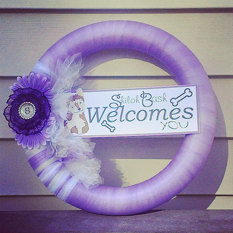 Wall Decor, Personalized Door Wreath