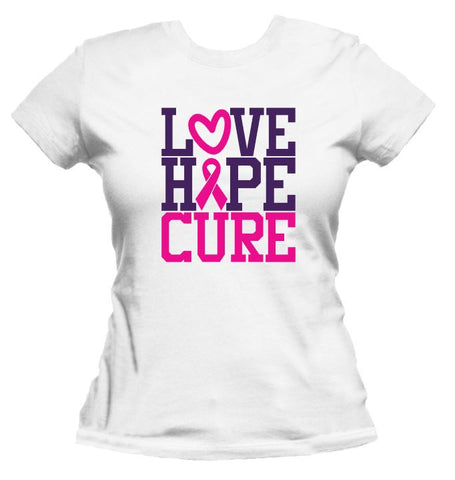 Love.Hope.Cure - Breast Cancer Awareness Tee