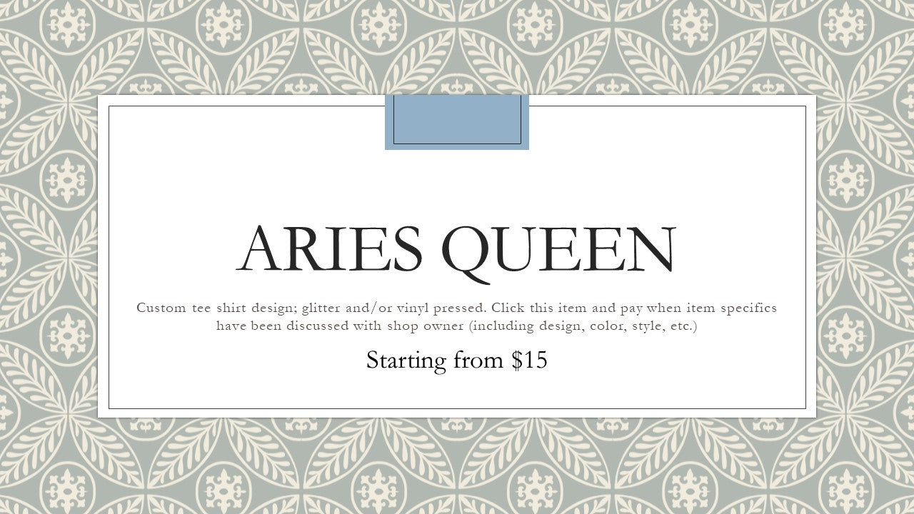 Zodiac Queen - Aries Tee