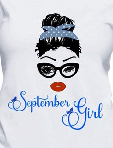 September Birthday Girl - tee