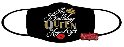 August Birthday Queen - Face mask