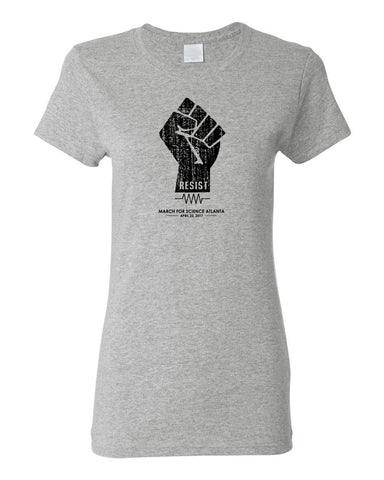 Retro Resist Fist T - Ladies