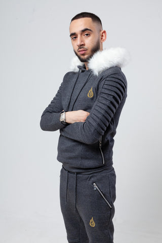 'Alaska' Charcoal Tracksuit (Available With/Without Fur)