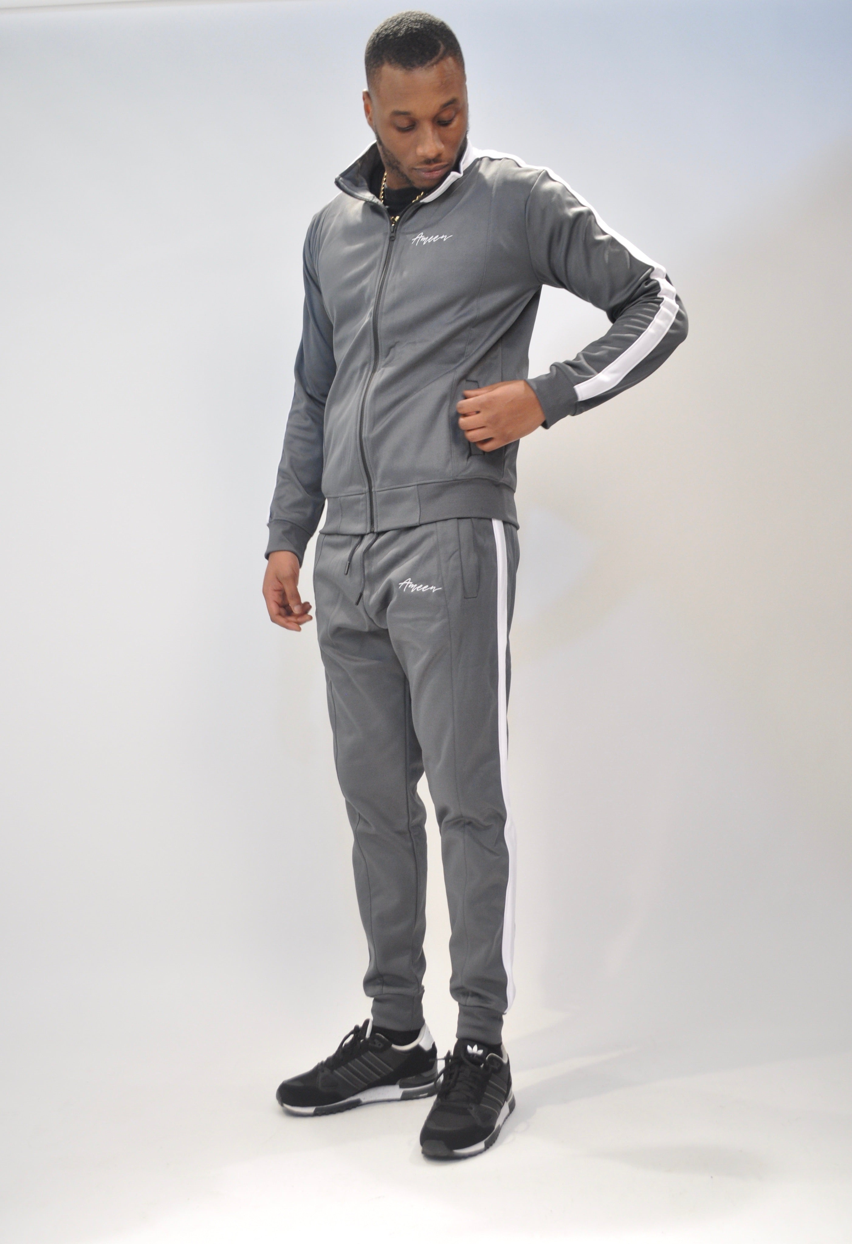 'Portmore' Grey & White Tracksuit