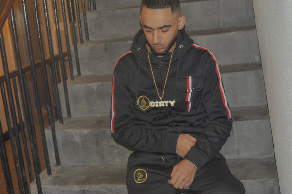 AW18 Ameen Limited Edition Black Multi Stripe Tracksuit