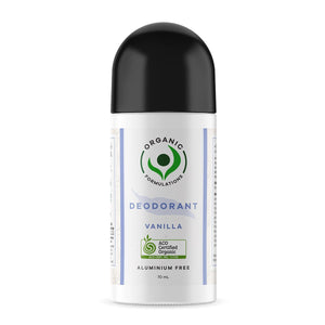 Organic Formulations Vanilla Deodorant - Roll On  70ml