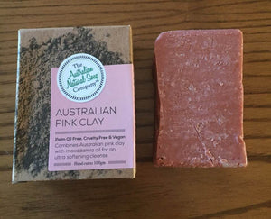 The Australian Natural Soap Company - Pink Clay Facial Soap Bar  100g