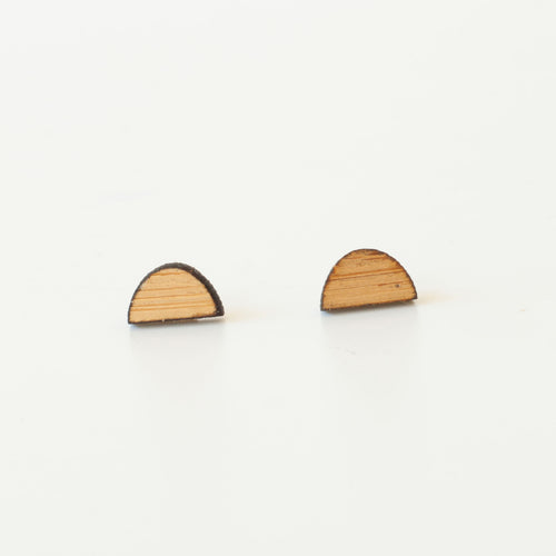 laser cut post earrings >> hypoallergenic >> bamboo sunrise