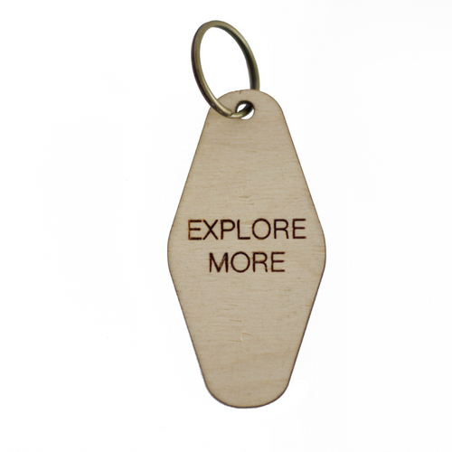 retro key fob >> wooden key chain >> explore more