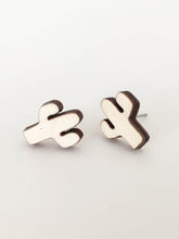 laser cut post earrings >> hypoallergenic >> cactus design