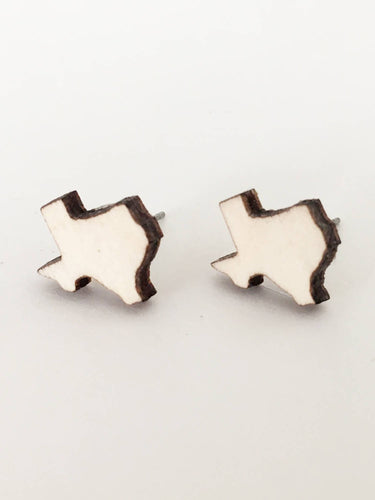 laser cut post earrings >> hypoallergenic >> texas design