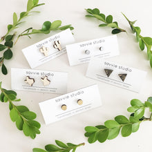 laser cut post earrings >> hypoallergenic >> gold monstera leaf