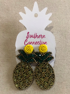 Southern Connection ~ Pineapple Statement Earrings