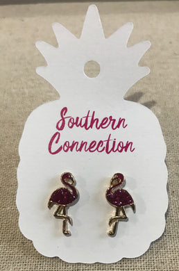 Southern Connection ~ Flamingo Post Earrings