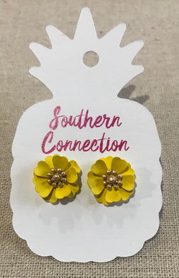 Southern Connection ~ Yellow Post Earrings