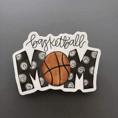 Doodles by Rebekah ~ Basketball Mom Sticker