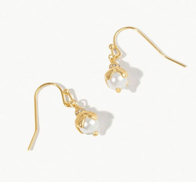 Spartina ~ Bead Drop Earrings Pearl