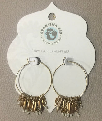 Spartina ~ Feather Fringe Hoop Earrings