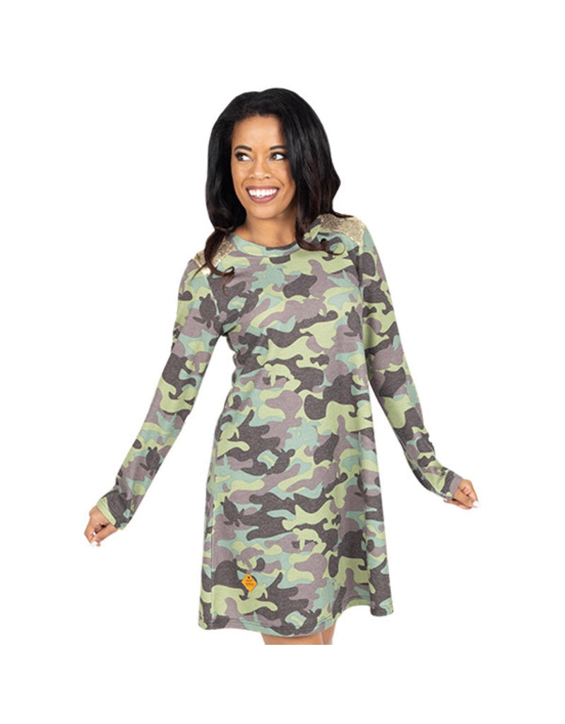 Simply Southern ~ Camo Sequins Dress