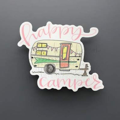 Doodles by Rebekah ~ Happy Camper Sticker