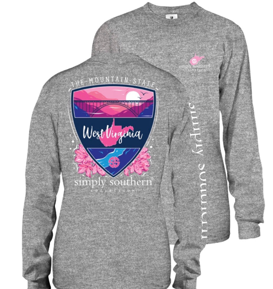 Simply Southern West Virginia Custom Long Sleeve