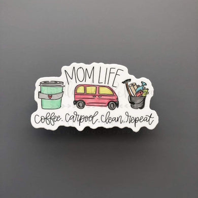 Doodles by Rebekah ~ Mom Life Sticker