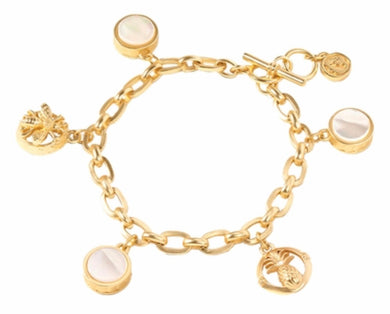 Spartina ~ Sticky Sweet Charm Toggle Bracelet Pearlescent