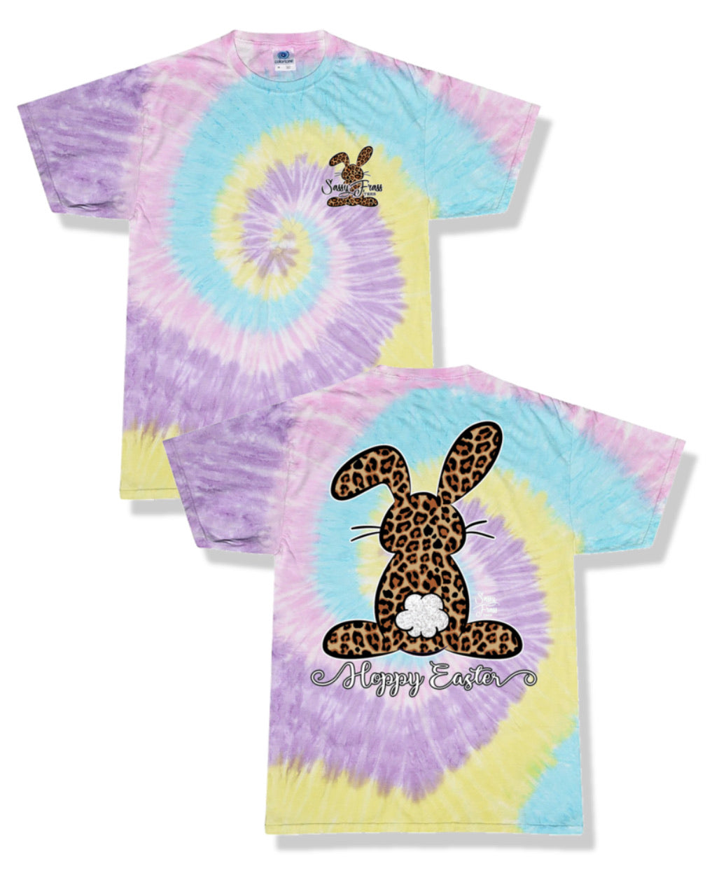 Tie Dyed Cheetah Easter Bunny
