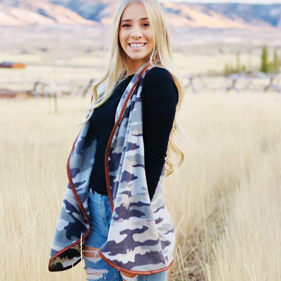 Simply Southern ~ camouflage Fleece vest
