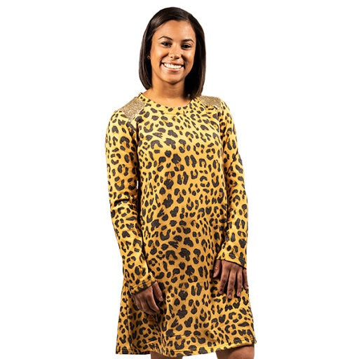 Simply Southern ~ Leopard Sequins Dress