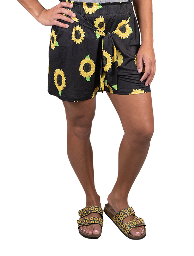 Simply Southern ~ Fashion Shorts Sunflower