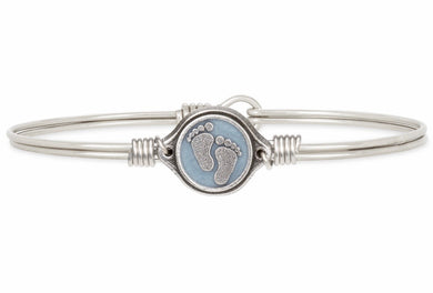 Luca + Danni ~ Little Footsteps Bangle Bracelet in Blue