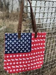 Simply Southern ~ Red, White, and Paws Canvas Bag