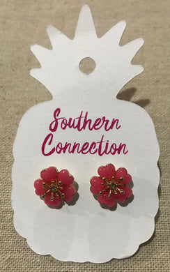 Southern Connection ~ Coral Flower Earrings