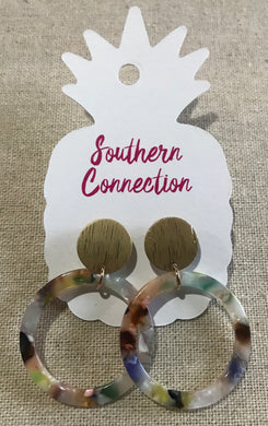 Southern Connection ~ Round Acrylic Dangle Earrings