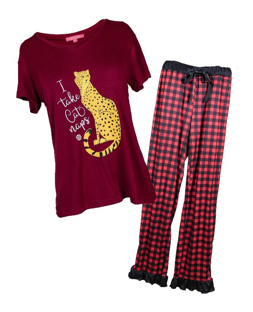 Simply Southern ~ Cat Naps PJ Lounge Set