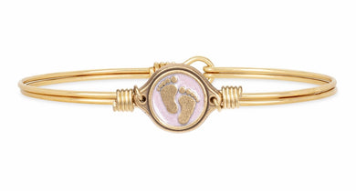 Luca + Danni ~ Little Footsteps Bangle Bracelet in Pink