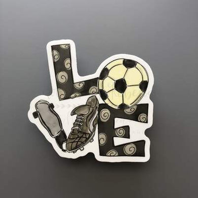 Doodles by Rebekah ~ Soccer Love Sticker