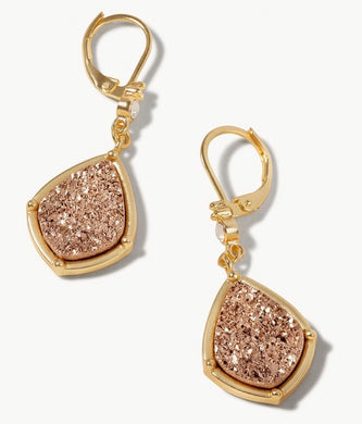 Spartina ~ Druzy Drop Earrings Prosecco