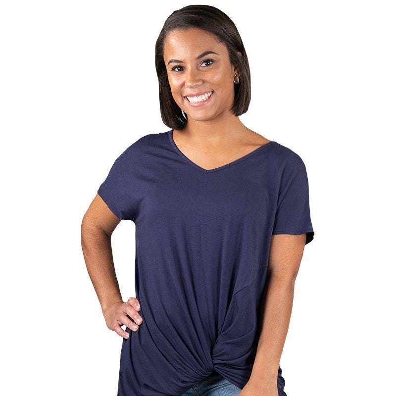 Simply Southern ~ Solid Navy Knot Tie Top