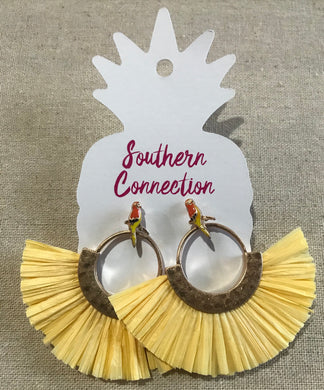 Southern Connection ~ Parrot Fan Earrings