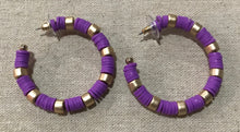 Southern Connection ~ Purple Rubber Hoop Earrings