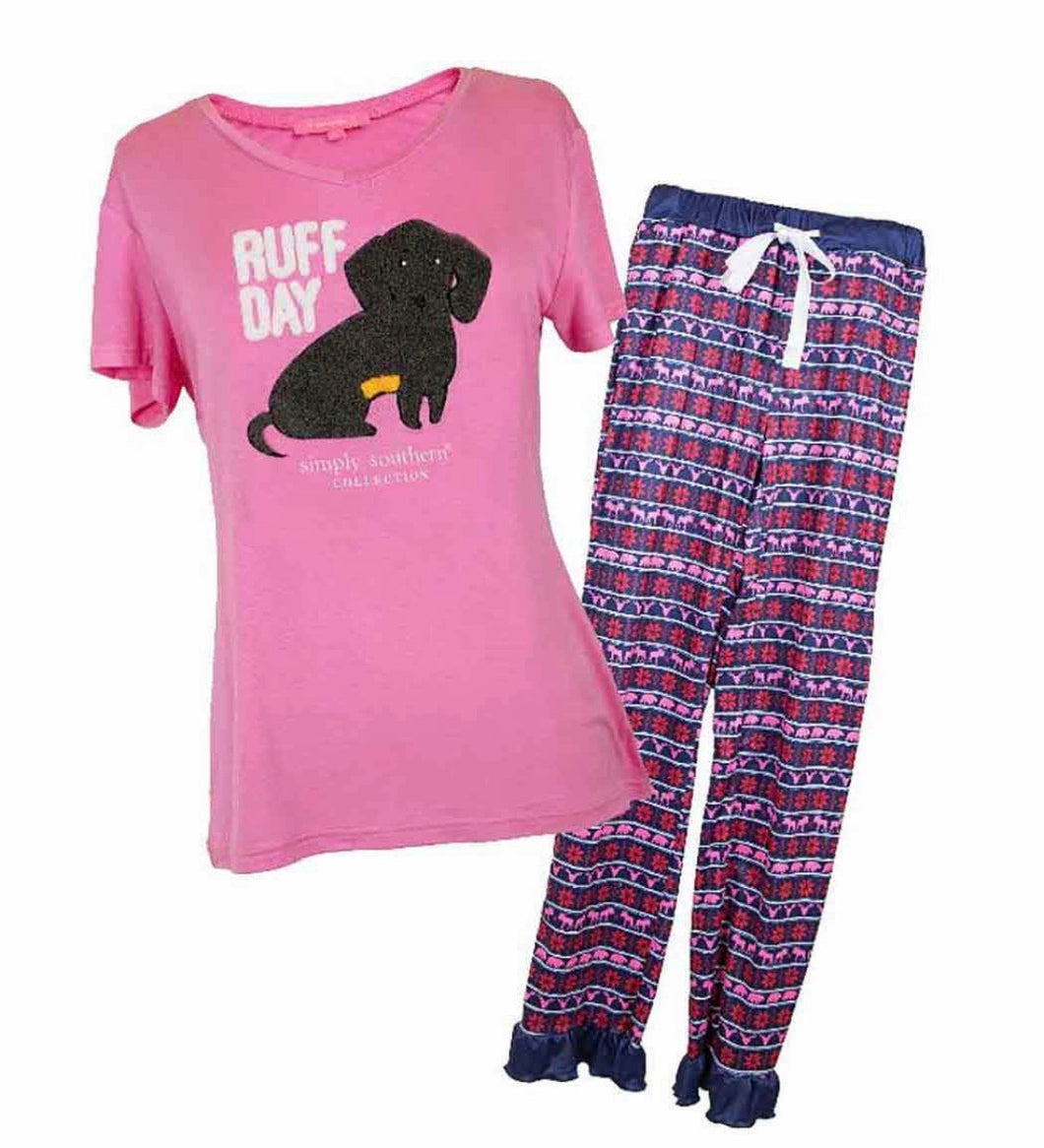Simply Southern ~ Ruff Day PJ Lounge Set
