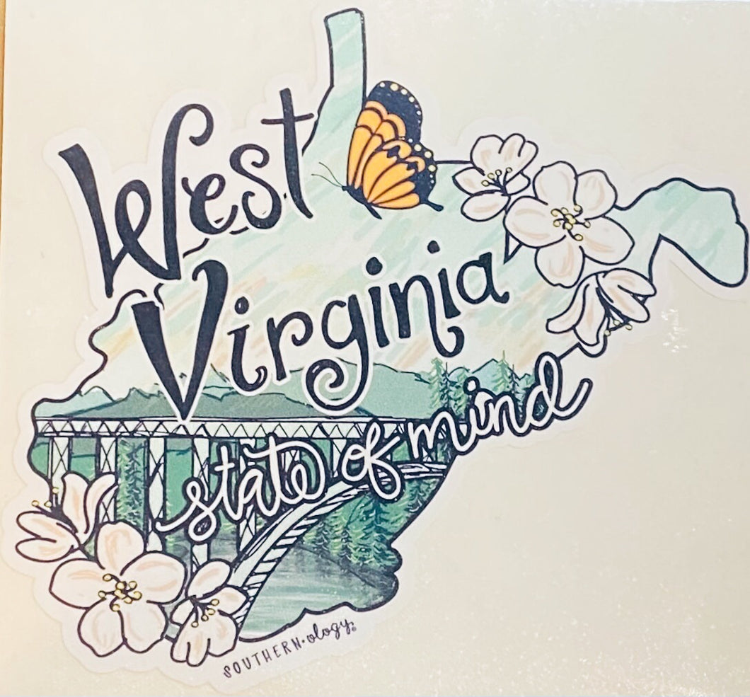 Southernology ~ WV State of Mind Decal