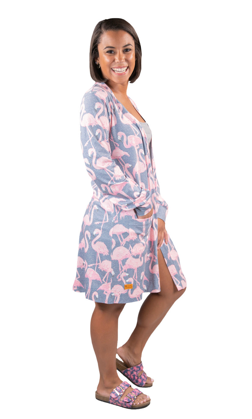 Simply Southern ~ Cardigan Flamingo