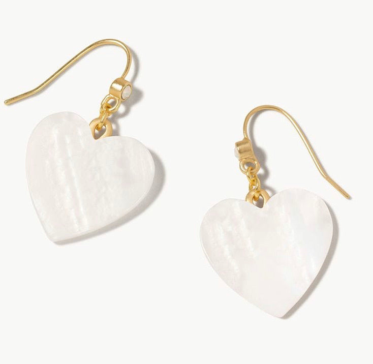 Spartina ~ Heart Drop Earrings