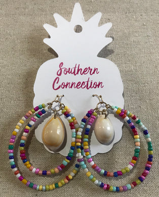 Southern Connection ~ Multi-Color Beaded earring