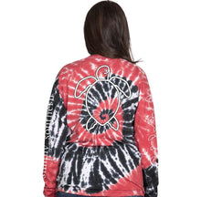 Long sleeve black and red turtle shirt